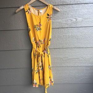 Old Navy preppy belted floral midi dress